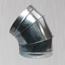 30 degree 2-Piece 1.0 CLR Elbow, metallic, side view